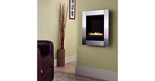 Focal Point Monet Wall Hung Flueless Gas Fire Brushed Steel Fascia RRP £362 NEW
