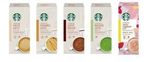 "Starbucks, Nestle Japan, ""Premium Mix"", Latte Series, Matcha, Sakura Strawberry"