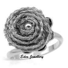 US$660 Exquisite Made in ITALY Bird Nest Sterling Silver Ring Matching Necklace