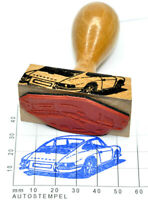 Porsche 911 F-Modell Heckansicht (1965) Autostempel - rubberstamp