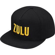 SUPREME Zulu 5 Panel Black box logo camp cap tnf S/S 16