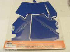 stickers fond de plaque numéro bleu   KTM   EXC 2008-2011  ref : 7800808800068