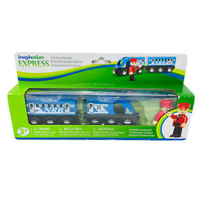 Imaginarium Express Commuter Train Play Set 3 Pieces Wood New in Package