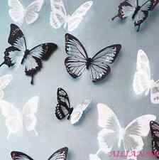 18PCS Crystal 3D Butterfly Wall Stickers Room Art Decal Home  Decor HY
