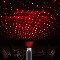 LED USB voiture toit intérieur atmosphère étoile veilleuse lampe projecteur SH