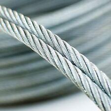 50m câble acier inox 3mm cordage torons: 7x7