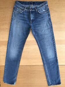 "GANT Chip 13oz Tapered Leg Stonewash Denim Blue Cotton Jeans - Size W33"" x L33"""