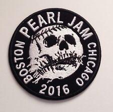 Pearl jam patch skull baseball boston chicago 2016 wrigley field fenway park