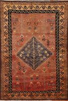 Vegetable Dye Semi-Antique Tribal Lori Oriental Area Rug Wool Hand-Knotted 4'x6'
