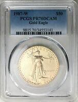 1987-W $50 One-Ounce American Gold Eagle PCGS PR70DCAM