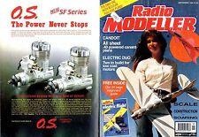 RADIO MODELLER MAGAZINE 1993 SEP PAUL THOMPSON'S MINUS FREE PLANS,