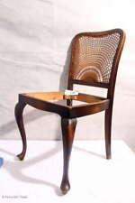 Antik Chippendale Stuhl Holzstuhl ohne Sitzpolster Sonnengeflecht Esszimmerstuhl