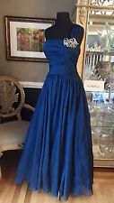 A703 LOVE BY ENZOANI C47 MIDNIGHT BLUE SZ 14 $740 FORMALGOWN DRESS