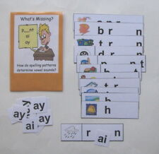 Teacher Made Literacy Center Resource Game Long Vowel Patterns ai & ay
