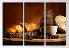 Carreau Moderne Photographie base bois, 87 x 62 cm, Petit déjeuner Café
