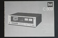 Double C 809 Original Mode D 'em Ploi / Manuel / User Manual Haut-Condition !