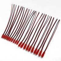 10 Paar Kunststoff JST Stecker Stecker Kabel Wire Line 21cm Schwarz + Rot Neu ^^