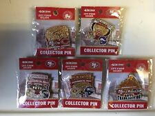 NFL GAME DAY PIN  LOT OF 5 SAN FRANCISCO 49ERS VS CHARGERS RAVENS VIKINGS