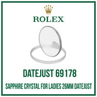 ♛ ROLEX Sapphire Crystal Glass USA Made For Ladies Rolex 26mm Datejust 69178  ♛