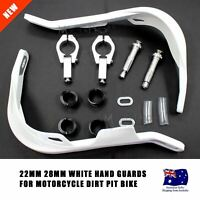 White Hand Guards Suzuki DR DRZ DS RM RMZ RM80 Yamaha WR 250 400 426 450 Bike