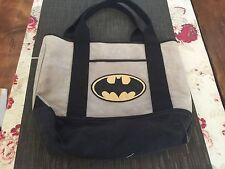 Pottery  Barn Batman Gray Black Bag GUC