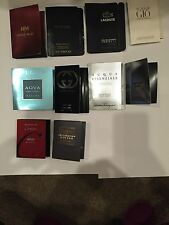 10 Men's Designer Fragrance Vial Sample Set Lot