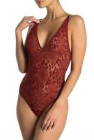 Intimately By Free People Womens Live It Up Bodysuit Red Size XS