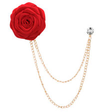 Rose Flower Lapel Pin Men Cloth Brooch Pin Wedding Boutonniere Suit Jewelry New