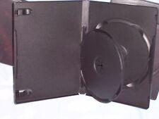 "5/8"" 14 mm Double DVD Case Movie Box w. Swing Tray Singles-Buy 1 Nice New"