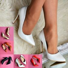 Ladies Pointy Stiletto Court Heels Studded High Heel Full toe Shoes Party Size