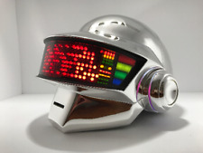 Daft Punk Thomas Full Led Helmet, includes gloves, stand, and neckalce