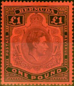 Bermuda 1938 £1 Purple & Black-Red SG121 Very Fine MNH