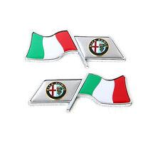 Car Emblem Badge Side Fender Logo Italian flag sticker for Alfa Romeo 4C Giulia