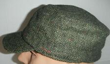 Stetson loden green wool cadet cap Hat fleece lined small / medium New