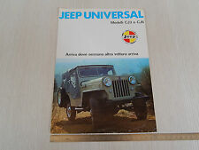 DEPLIANT ORIGINALE JEEP CJ3 - CJ6 1974 IN ITALIANO
