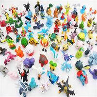 Hot Wholesale Lots 24pcs Mixed Pokemon Mini Pearl Figures Kids Children Baby Toy