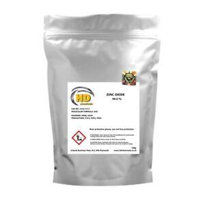 Zinc Oxide Powder 99.9% High Grade Zinc White Zincum oxydatum FREE UK PP