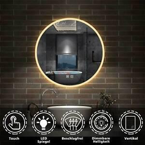 Bad Spiegel LED RUND Badezimmerspiegel Touch Beschlagfrei Lichtspiegel 60 70 80