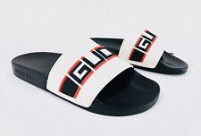 Gucci Pursuit Logo Rubber Platform Pool Flat GG Slide Sandal 524984 Size 35