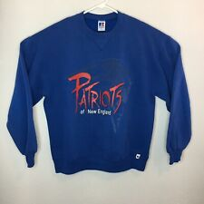 New England Patriots mens Large Sweatshirt Russell Made In USA Vintage 90s NFL