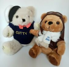 Cutty Sark Teddy Bear 9' Joined & Air Pilot 2000 Vintage Bear Bundle