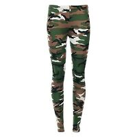 WOMENS CAMOUFLAGE ARMY PRINT LEGGINGS MILITARY LADIES PLUS SIZE 8 - 26 VISCOSE