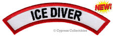 New listing ICE DIVER CHEVRON - SCUBA DIVING iron-on DIVE CERTIFICATION PATCH embroidered