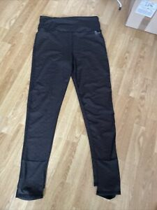 Womens Black Polka Dot Superdry Studio Sport Leggings With Foot Loops Size Large