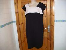 ELLA BOO designer monochrome dress size 14UK  lined quality great condition v