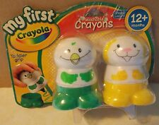 CRAYOLA MY FIRST WASHABLE CRAYONS YELLOW AND GREEN 12+ MONTHS