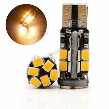 10Pcs Warm White 12V T10 W5W 194 168 2835 22SMD Led Canbus No Error Light bulb