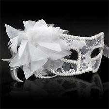 Eye Mask Feather Lace Flower Masquerade Ball Carnival Fancy Dress N6G1