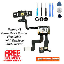 Replacement Power/Lock Button/Switch + Earpiece + Bracket + Tools for iPhone 4S