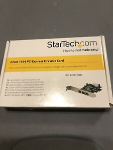 NEW StarTech 3 Three Port Low Profile 1394 PCI Express FireWire Card Open Box